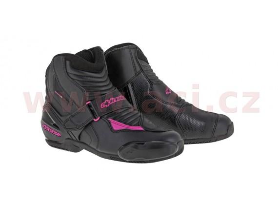 boty STELLA SMX-1 R, ALPINESTARS (černé/fialové)
