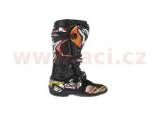 sada polepů pro boty TECH 10 model 2014 až 2018, ALPINESTARS (červená/bílá/žlutá)