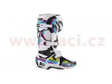 sada polepů pro boty TECH 10 model 2014 až 2018, ALPINESTARS (černá/světle modrá/fialová/z