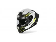 přilba GP 550S VENON, AIROH - Itálie (bílá/černá/fluo)