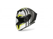 přilba GP 550S SKYLINE, AIROH - Itálie (bílá/černá/fluo-matná , vel. M)
