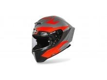 přilba GP 550S VECTOR, AIROH - Itálie (černá/oranžová/stříbrná-matná)