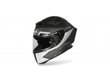 přilba GP 550S VECTOR, AIROH - Itálie (černá/bílá/stříbrná-matná)