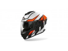 přilba ST 501 FROST, AIROH - Itálie (černá/bílá/oranžová-matná) 2021