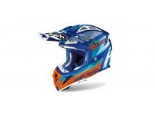přilba AVIATOR NOVAK 2.3 AMSS, AIROH (tyrkysová/oranžová/modrá)