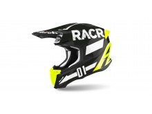přilba TWIST 2.0 RACR, AIROH - Itálie (černá/bílá/fluo) 2021
