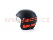 přilba PILOT 1.1 H.T., BLAUER (černá mat/oranžová)