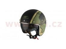 přilba Chopper Rebel, VEMAR (černá matná/zelená/krémová)