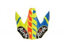 náhradní kšilt pro přilby TWIST GREAT, AIROH - Itálie (žlutá/modrá/červená)