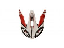 náhradní kšilt pro přilby WRAAP Broken, AIROH - Itálie (červená)
