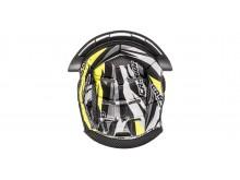 klobouk interieru pro přilby Cross Pro II, CASSIDA (žlutá fluo/černá/bílá/šedá)