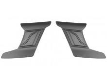 čelní kryty vrchní ventilace pro přilby Cyklon, CASSIDA - ČR (stříbrná titatnium matná, pá