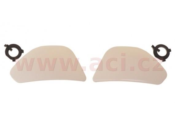 boční kryty hledí pro přilby City Seven, MT - Španělsko (bílé)