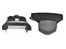 bradový kryt ventilace pro přilby VALOR, AIROH - Itálie (černý)
