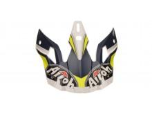 náhradní kšilt pro přilby AVIATOR 2.2 Ready, AIROH - Itálie (bílá/modrá/žlutá)