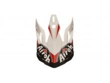 náhradní kšilt pro přilby AVIATOR 2.2 Ready, AIROH - Itálie (bílá/červená)