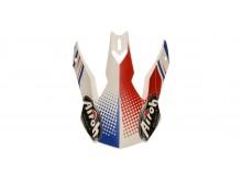 náhradní kšilt pro přilby TERMINATOR 2.1 S Cleft, AIROH - Itálie (bílá/modrá/červená)