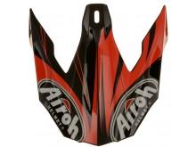 náhradní kšilt pro přilby TWIST Evil, AIROH - Itálie (černá/oranžová)