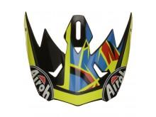 náhradní kšilt pro přilbu ARCHER, AIROH - Itálie (žlutý/černý)