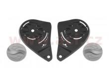 víčka mechanismu hledí pro přilby N915/N917/N301/N962/N682K, NOX (stříbrná, pár)