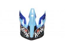 náhradní kšilt pro přilby AVIATOR 2.2 Check, AIROH - Itálie (modrá)