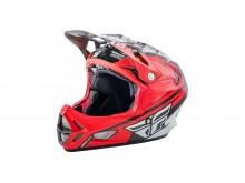 přilba cyklo WERX RIVAL carbon, FLY RACING - USA (červená/bílá/černá, se systémem ochrany