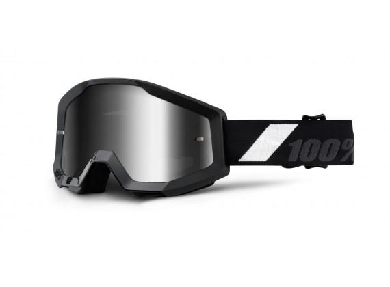 brýle Strata Goliath, 100% (černá, stříbrné chrom plexi s čepy pro slídy)