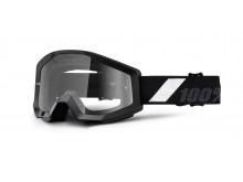 brýle Strata Goliath, 100% (černá, čiré plexi s čepy pro slídy)