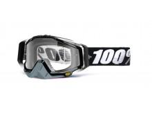 brýle Racecraft Abyss Black, 100% (čiré plexi + chránič nosu +20 strhávaček)