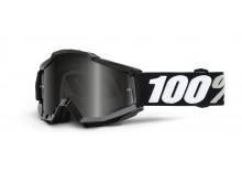 brýle Accuri SAND Tornado, 100% (černá, šedé plexi s čepy pro slídy)