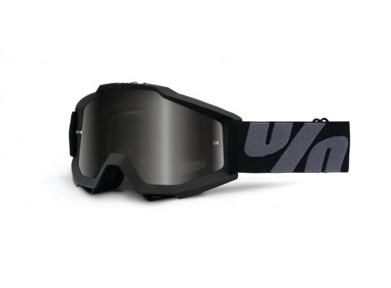 brýle Accuri ATV-SAND/OTG Superstition, 100% (černá, šedé plexi s čepy pro slídy)