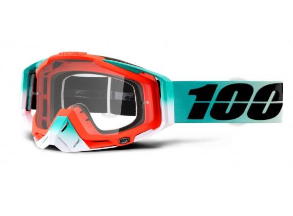 brýle Racecraft Cubica, 100% (čiré plexi + chránič nosu +10 strhávaček)