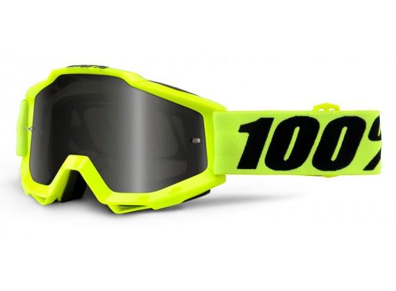 brýle Accuri Sand Fluo Yellow, 100% (kouřové plexi s čepy pro slídy + čiré plexi s čepy pr