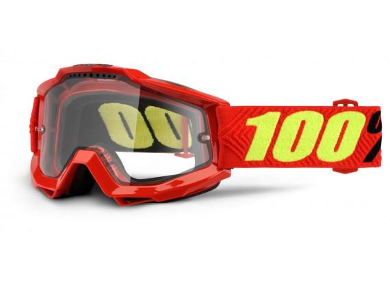 brýle Accuri Enduro Saarinen, 100% (kouřové dual plexi s čepy pro slídy)