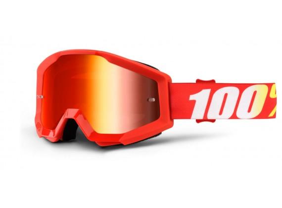 brýle Strata Furnace, 100% (červené chrom plexi s čepy pro slídy)