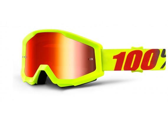 brýle Strata Mercury, 100% (červené chrom plexi s čepy pro slídy)