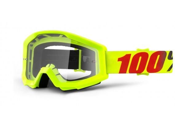 brýle Strata Mercury, 100% (čiré plexi s čepy pro slídy)