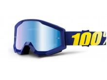 brýle Strata Hope, 100% (modré chrom plexi s čepy pro slídy)