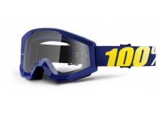 brýle Strata Hope, 100% (čiré plexi s čepy pro slídy)