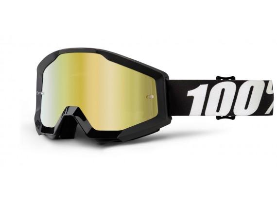 brýle Strata Outlaw, 100% (zlaté chrom plexi s čepy pro slídy)