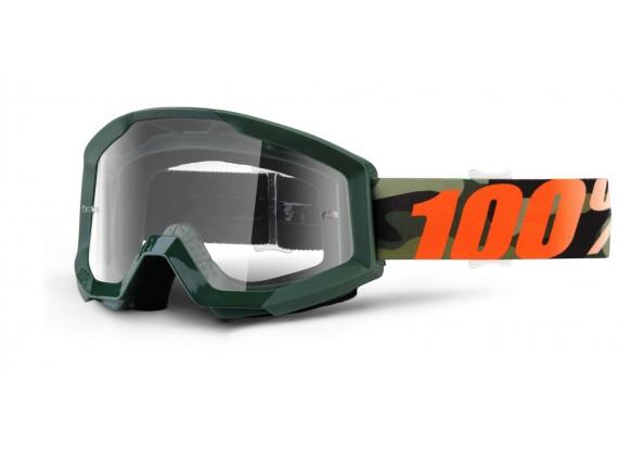 brýle Strata Huntitistan, 100% (čiré plexi s čepy pro slídy)