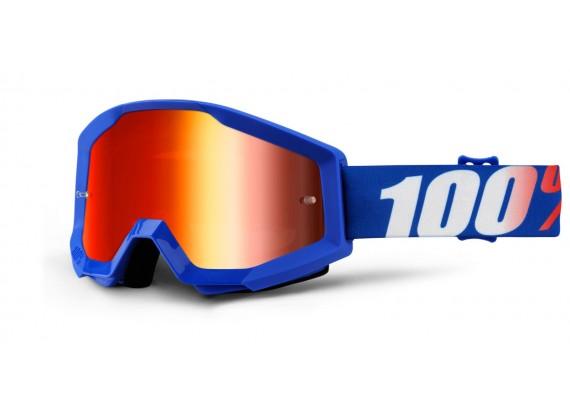 brýle Strata Nation, 100% (červené chrom plexi s čepy pro slídy)
