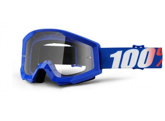 brýle Strata Nation, 100% (čiré plexi s čepy pro slídy)