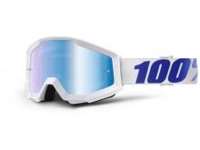 brýle Strata Equinox, 100% (modré chrom plexi s čepy pro slídy)