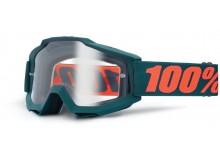 brýle Accuri OTG Gunmetal, 100% (šedá, čiré plexi s čepy pro slídy)