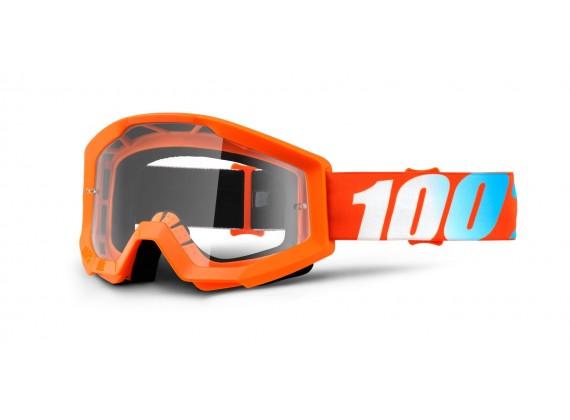 brýle Strata Orange, 100% (čiré plexi s čepy pro slídy)