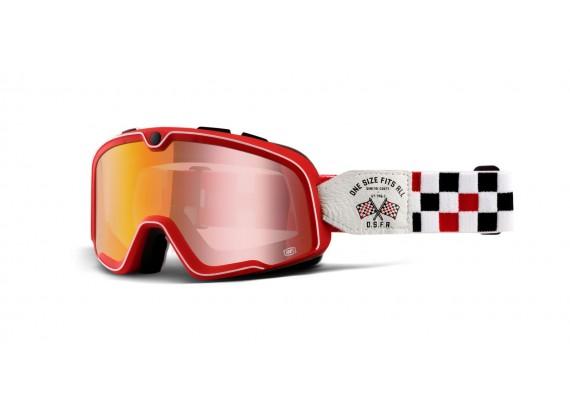 brýle Barstow OSFA2, 100% (červené chrom plexi)
