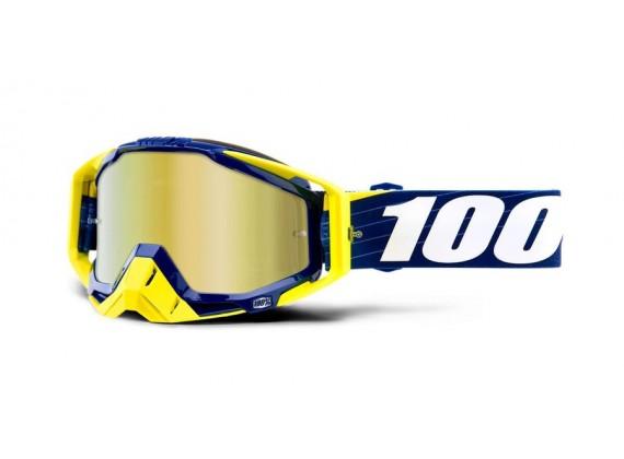 brýle RACECRAFT Bibal/Navy, 100% (zlaté zrcadlové plexi)