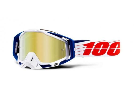 brýle RACECRAFT Bibal/White, 100% (zlaté zrcadlové plexi)