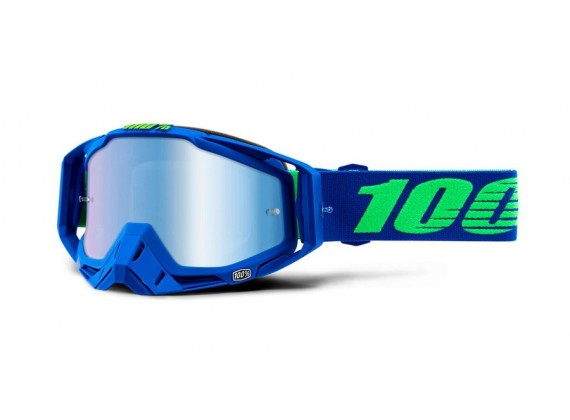 brýle RACECRAFT Dreamflow, 100% (modré zrcadlové plexi)